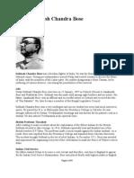 Subhash Chandra Bose- Biography