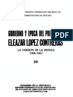 Tomo 28. Gobierno y época del presidente Eleazar López Contreras