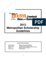 2012 Metropolitan Scholarship Guidelines Rodeo Houston