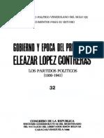 Tomo 32. Gobierno y época del presidente Eleazar López Contreras