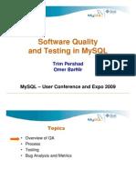 Testing in MySQL