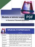 Modele Si Tehnici Experiment Ale in Domeniul Fitomedicamentului