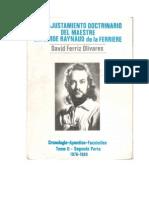Reajustamiento Doctrinario Tomo II. David Ferriz Olivares