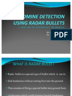 Landmine Detection Using Radar Bullets