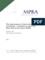 MPRA Paper 2040