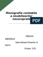 Monografia Contabila a Imobilizarilor Necorporale
