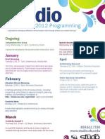 Program Cards Spring 2012