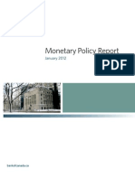 Bank of Canada Monetary Policy Report January 2012