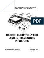 US Army Medical Course MD0564-200 - Blood, Electrolytes, And Intravenous Infusions