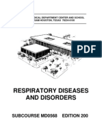 US Army Medical Course MD0568-200 - Respiratory Diseases and Disorders