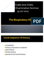 The Respiratory History