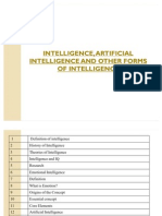 Intelligence, Artificial Intelligence and Other Forms Of