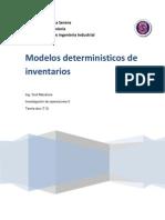 Informe Modelos de Invent a Rio