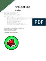 proiect de evaluare