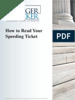 How to Read Your Speeding Ticket