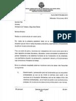 Carta enviada a Sandra Pisk sobre piñeras