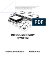 US Army Medical Course MD0575-100 - Integumentary System