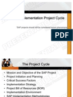 SAP Implementation Project Cycle