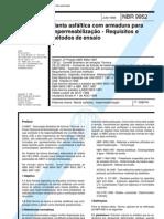 NBR 9952 - Manta Asfaltica Com Armadura Para Impermeabilizacao - Requisitos e Metodos de Ensaio