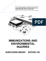 US Army Medical Course MD0587-100 - Immunizations and Environmental Injuries