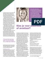 Kies je voor zekerheid of avontuur? - VCV Magazine