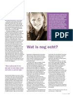 Wat is nog echt? - VCV Magazine