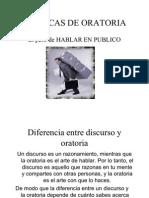 TECNICAS DE ORATORIA