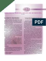 Cap 22 Alteraciones del término gestacional y crecimiento fetal