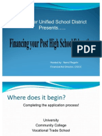 Financing Your Post High School Education 2012