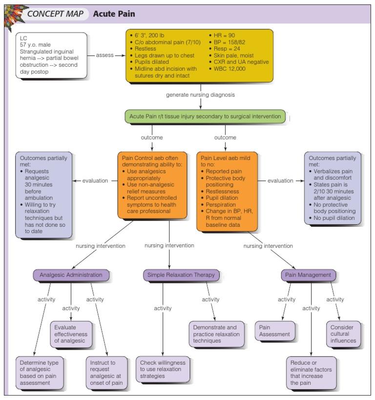 Concept Map Acute Pain - Nursing concept map generator