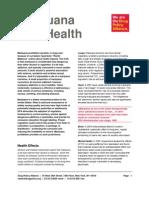 FactSheet_Marijuana and Health