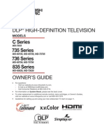 Mitsubishi WD 73736 DLP HDTV Manual