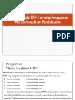 Penerapan Model CIPP Terhadap Penggunaan Web Learning Dalam