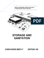 US Army Medical Course MD0717-100 - Storage and Sanitation