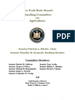 Senate Committee on Agriculture 2011 Annual Report