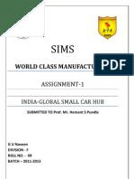 INDIA- The Global Small Car Hub - G U Naveen(F-9)