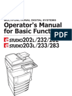 Operator's Manual for Basic Function 203L-233-283-OpsBasic-V05