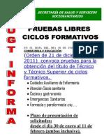 Pruebas Libre Ciclos Formativos UGT