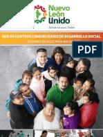 Folleto de Centros Comunitarios de Desarrollo Social