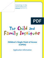 Children's Single Point of Access Brochure