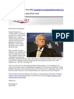 Gingrich Fundraising Email