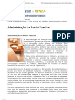 Administracao Da Renda Familiar