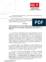 Moción Redactar Reglamento Participación Ciudadana