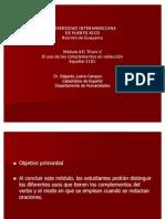 Uso de Los Complementos en Redaccion Espanol 1101