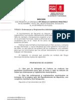 Moción Publicacion Ordenanzas y Reglamentos