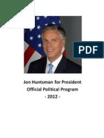 Jon Hutsman - Official political program 2012