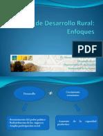 Clase Proceso de Desarrollo Rural Enfoques 2011