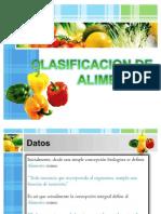 Clasificacion de Alimentos