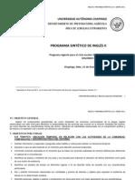 Ingles II. Programa Sintetico v 5.1 Enero 2011