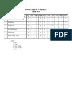 Observation Schedule